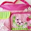 กระเป๋าสัมภาระคุณแม่ สีชมพู ลายผลไม้ขนาด 18x32x40 cm.
