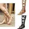 พร้อมส่ง - รองเท้ากลาดิเตอร์ โบฮีเมียน กรีกโรมัน Gladiator ส้นเตี้ย สีทอง size 38
