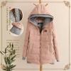 Pre-เสื้อแจคเกตกันหนาวมีหมวก ซิปหน้า สไตล์เกาหลี