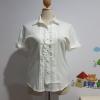 เสื้อเชิ้ต ผ้าไหมอิตาลี ตีเกล็ด สีขาว ไซส์ XL อก 44 นิ้ว