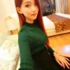 เสื้อแฟชั่น คอปีน แขนยาว ผ้ายืดลายทาง สีเขียว