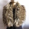 พร้อมส่ง ผ้าพันคอเฟอร์ สี Light tan Raccoon ( FAUX FUR ) 20x102 cm. ถ่ายจากสินคาจริงนะคะ