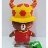 ตุ๊กตา หมีบราวน์ ใส่ชุดสเปน ฟุตบอลโลก 2014