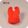 พร้อมส่ง-หมวกไหมพรมมีหู สีส้มสะท้อนแสง
