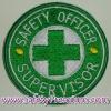 โลโก้ปักเย็บติดเสื้อ Safety Officer - Supervisor