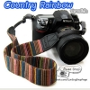 สายคล้องกล้อง Country Rainbow ปลายดำ