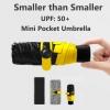 ร่มจิ๋ว 5 ตอน (super UV protector) สีเหลือง