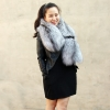 Pre-Order GENUINE SILVER GREY FOX FUR SHAWL/SCARF