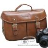 กระเป๋ากล้องแฟชั่น Trendy Brown Leather Bag (L)