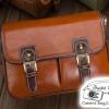 กระเป๋ากล้องกันน้ำ Smart Red Brown Leather Bag (M)