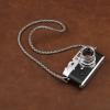 สายคล้องกล้องหนังแท้เส้นเล็ก แบบถัก Cam-in leather camera strap สีเทา