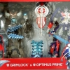 Transformers ทรานสฟอร์เมอร์ Age of Extinction Leader Class Optimus Prime & Grimlock Platinum Edition NEW