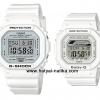 นาฬิกา Casio G-SHOCK x BABY-G เซ็ตคู่รัก Marine White series รุ่น DW-5600MW-7 x BLX-560-7 Pair set ของแท้ รับประกัน 1 ปี