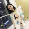 (SALE) เสื้อชีฟองลายผู้หญิง สีขาว แต่งแขนสีเขียว