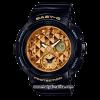 นาฬิกา Casio Baby-G BGA-195M Metal Dial series รุ่น BGA-195M-1A ดำ-ทอง ของแท้ รับประกัน1ปี