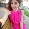 พร้อมส่ง-เดรสสั้นชีฟองซาติน ทรงสวยไฮโซ สีชมพูshocking pink