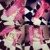 (SALE) เสื้อคลุม สไตล์ฮาราจูกุ แขนลายนก สีชมพู