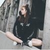 (ภาพจริง) เสื้อกันหนาวแฟชั่น มีฮูด แขนยาว บุกันหนาว ลาย SK สีดำ