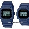 นาฬิกา คาสิโอ Casio G-Shock x BABY-G ลายยีนส์ เซ็ตคู่รัก Denim Fabric Elements series รุ่น DW-5600DE-2 x BGD-560DE-2 Pair set ของแท้ รับประกัน 1 ปี