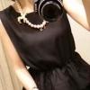(SALE) เสื้อชีฟองแฟชั่น แขนกุด สีดำ
