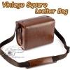 กระเป๋ากล้องเล็ก Mirrorless - Vintage Square Leather Bag