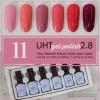สีเจลทาเล็บ UHT ชุดรวม 6สี รหัส 11 โทนสีชมพู สีสวย เนื้อแน่นเข้มข้น ราคาประหยัด