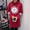 เสื้อแฟชั่น มีฮูด แขนยาว ลาย HSTYLE SINCE 2006 สีแดง