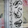 YM-X104 สติ๊กเกอร์ลายสัก tattoo ลายแมงป่อง18 x 7 cm