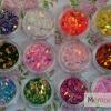 กากเพชรวงรี เหลือบรุ้ง 12สี 12กระปุก
