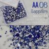 เพชรชวาAA สีน้ำเงิน Sapphire รหัส AA-06 คละขนาด ss3 ถึง ss30 ปริมาณประมาณ 1300-1500เม็ด