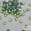 เพชรชวาติดเล็บ สีเขียวเหลือบรุ้ง ขนาด 6