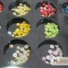 เพชรติดเล็บ กลม สีเหลือบ คละสี ขนาด 2.5 มิล