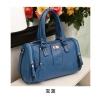 Axixi-กระเป๋าหนังสีน้ำเงิน ทรงคล้าย Balenciga
