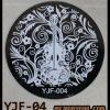 แผ่นปั๊มลายเล็บ รหัส YJF ทรงกลม