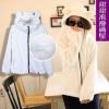Pre-เสื้อแจ๊คเกตฮู้ดมีหู สีขาว นุ่มนิ่ม