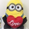 ตุ๊กตามินเนี่ยนถือหัวใจ Minion Despicable Me ขนาดใหญ่ 30 นิ้ว (สองตา) ลิขสิทธิ์แท้