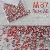 เพชรชวาAA สีชมพูส้มเหลือบรุ้ง Lt. Rose AB รหัส AA-37 คละขนาด ss3 ถึง ss30 ปริมาณประมาณ 1300-1500เม็ด
