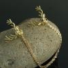 พร้อมส่ง Gold Dear Collar Clip