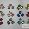 เพชรติดเล็บ สี่เหลี่ยมผืนผ้า10 มิล คละสี กล่องกลมเล็ก