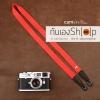 สายกล้องคล้องคอ cam-in สีพื้นเส้นเล็ก สีแดง แบบห่วง 25 mm