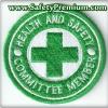โลโก้ปักเย็บติดเสื้อ Health & Safety Committee Member