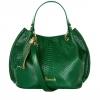 กระเป๋าแฮร์รอดส์ของแท้ Ash Snake-Effect Bucket Bag