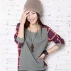 พร้อมส่ง-เสื้อกันหนาวสีเทาลายก๊อตสไตล์เกาหลี Size M,L