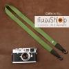 สายคล้องกล้อง cam-in สีพื้นเส้นเล็ก สีเขียวหญ้า แบบห่วง 25 mm