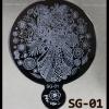 แผ่นเพลทปั๊มลายเล็บ รหัส SG ทรงกลมใหญ่
