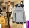 Pre-เสื้อกันหนาวหมีแพนด้า สีเทา