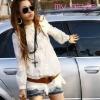 Pre-เสื้อคอจีนลูกไม้แขนยาว สีขาว