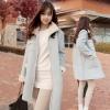 Pre-เสื้อโค้ทกันหนาวสไตล์เกาหลี สีฟ้าขาว