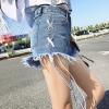 กางเกงยีนส์ ขาสั้น แต่งขาดๆ แต่งเชือกผูก สียีนส์