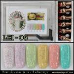 สีเจลทาเล็บ LEI-06 ชุด6สี พร้อมกรอบรูป สีดี เนื้อแน่น คุ้มค่าราคาถูก